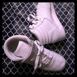 White REEBOK high tops size 7.5